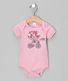 Look at this Truffles Ruffles Pink Balloon Bike 'Happy Birthday' Bodysuit on #zulily today!