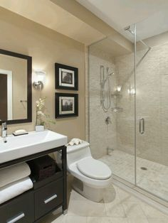 Modern bathroom Wall art against mirror frame Bathroom Design Trends  www.OakvilleRealEstateOnline.com