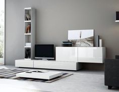 Mueble Modular Moderno Lcd Living Mesa Tv Progetto Mobili