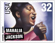 "Mahalia Jackson – ""Gospel Queen "" gospel singer USA Legends of American Music series 1998 Motif Music, Mahalia Jackson, Commemorative Stamps, Gospel Music, Black History Month, African American History, Women In History, Stamp Collecting, History Facts"