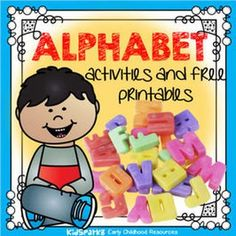 Alphabet and letters printables, activities, centers and games for preschool, pre-K and Kindergarten children and teachers. Preschool Literacy, Preschool Letters, Kindergarten Activities, Free Preschool, Preschool Routine, Literacy Games, Reading Activities, Educational Activities, Alphabet Phonics