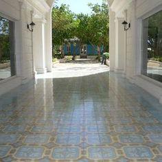 Avente Tile Project: Cement Tile Outdoor Foyer