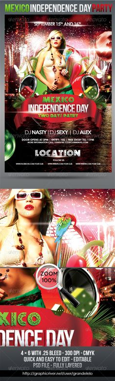 Foam Party Summer Flyer + Facebook Cover Models, Party events - independence day flyer