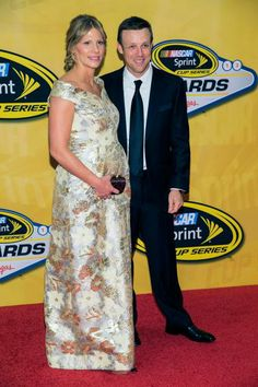 Matt and Katie Kenseth arrive at the NASCAR Sprint Cup Series auto racing awards ceremony. (Eric Jamison/AP)