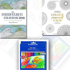 Tiddy Rowan and Emma Farrarons Mindfulness Colouring Book 2 Coloring Books with Colouring Pencils.  #Coloring #Books #BookCollection #BookForSale #mindfulness