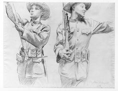 """Study for Flag Bearer and Soldier Holding France's Hand, for """"Coming of the Americans,"""" Widener Library, Harvard University, John Singer Sargent Harvard Art Museum, Museum Of Fine Arts, Cincinnati Art, City Gallery, Royal Academy Of Arts, John Singer Sargent, Harvard University, Inspirational Artwork, Black And White Drawing"""