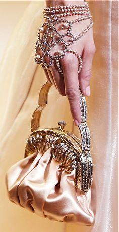 Dramatic and feminine look for the wedding reception. By Giorgio Armani, 2013-2014
