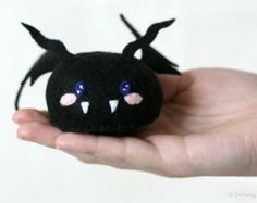 Stuffed Monster Patterns Free | Bat plush - monster plush, stuffed felt nursery shelf decor, desk ...