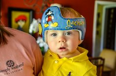 Mickey themed Cranial Band DOC band/Cranial band/helmet  https://www.facebook.com/Cranial-BandsMurals-by-Leigh-Gibson-153150921414230/