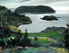 """Green Islands,"" George Wesley Bellows, 1913, Oil on panel, 15 x 19 1/2"", Private collection."