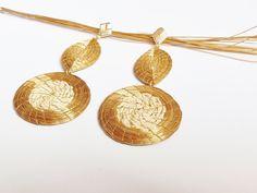Concepção de Brinco capim dourado mandala e folha e preço http://ift.tt/2tQZqrt