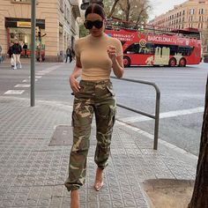 Cadet In Training Cargo Pants - Camo Camo Pants Fashion, Army Pants Outfit, Outfits With Camo Pants, Cute Casual Outfits, Stylish Outfits, Look Fashion, Trendy Fashion, Fashion Sale, Runway Fashion