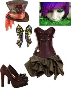 """The Mad Hatter costume"" by sperrbear101 ❤ liked on Polyvore"