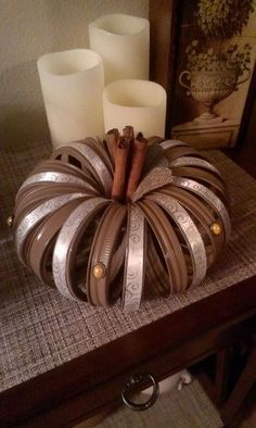 Who said pumpkins had to be orange? This neutral DIY can be used all of Fall.