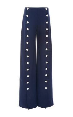 These **Tory Burch** Carrie Sailor Pants feature a high rise waistline, pleat and button detail, and wide leg silhouette.