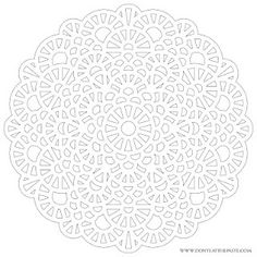 A new crochet inspired mandala to color.