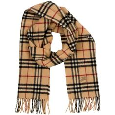 aa954afbee4 Pre-owned Burberry Scarf Wrap ( 289) ❤ liked on Polyvore featuring  accessories
