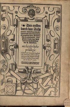 Den eersten [-vijfsten] boeck van architecturen Sebastiani Serlij - 1553