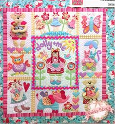 Dolly And Me Quilt Pattern - Kookaburra Cottage Quilts - Handmade Gifts Pattern - DIY Little Girl Room Decor - Three Dimentional Quilt Pattern - Shabby Fabrics