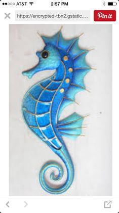 Hippocampe silhouette-mur vinyl stickers sea horse ocean poisson transferts décalcomanies