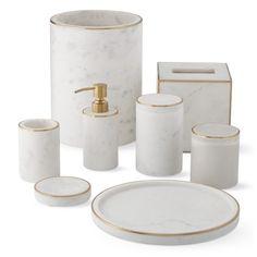 Gold Bad, Best Kitchen Design, Gold Bathroom Accessories, Bathroom Soap Dispenser, Rustic Bathrooms, Marble Bathrooms, Vanity Tray, Bathroom Pictures, Bathroom Sets