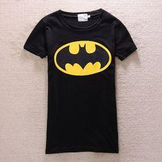 Free Shipping 2013 new fashion plus size t shirt women clothing  cute tops Animal cartoon Batman  couple  shirt   Wholesale