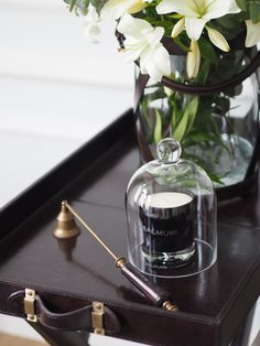 Como Scented Candle 8x10cm Black Home Fragrance