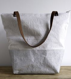 Metallic Linen Tote / Thread and Paper