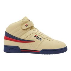 Men s Fila F13 - Fila Cream Fila Navy Fila Red Walking Shoes 5c719ed4f1