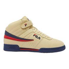 Men s Fila F13 - Fila Cream Fila Navy Fila Red Walking Shoes 5c719ed4f1