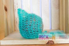 Mohair pixie bonnet 0 to 3 months Made to order by RockNWool