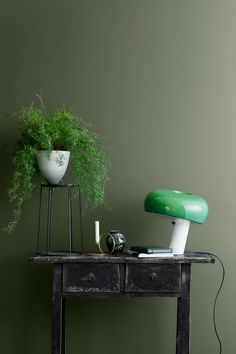 Is green the new grey of interiors? Find harmony and balance with a collection of green interior inspiration, from forest green walls to mint accessories Cork Panels, Jotun Lady, Green Wall Color, Green Painted Walls, Green Blanket, Favorite Paint Colors, Green Home Decor, Living Room Green, Wall Paint Colors