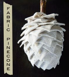 Fabric Pinecone