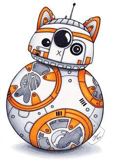 BB-CAT - StarWars Art Print - 5x7