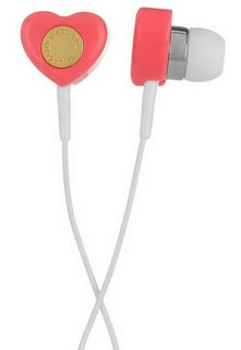marc jacobs, marc jacobs heart earphones, heart ear phones, heart, valentines day, love, valentine, office, work, school, music, ipod, iphone