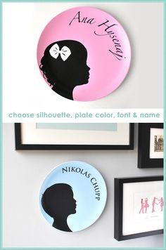 silhouette plates