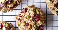 Superfood Breakfast Cookies - Wife Mama Foodie Weight Loss Tips Healthy Cookies, Healthy Treats, Healthy Recipes, Biscuits, Gluten Free Oats, Nutrition, Breakfast On The Go, Breakfast Cookies, Living At Home
