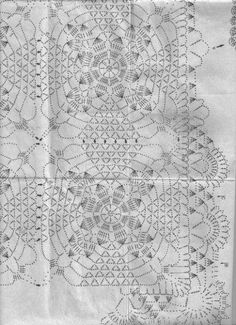Diy Crafts - CROCHET : See how diversities of crochet patterns with various ideas with free graphics Crochet Motif Patterns, Granny Square Crochet Pattern, Crochet Diagram, Crochet Squares, Filet Crochet, Diy Crafts Crochet, Crochet Art, Crochet Home, Crochet Table Runner