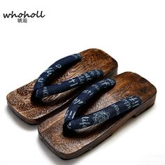 Click to Buy << WHOHOLL Man flip-flops summer sandals platform Japanese