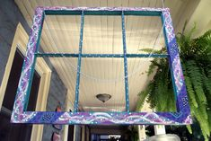 Reusing An Old Window #diy via Live Colorful