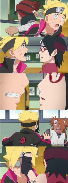 Boruto and Sarada's First Kiss happened!  Episode 38 was insane ❤️❤️❤️ #BoruSara