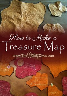 Something fun to do with the kids this Summer or maybe for Father's Day-  an easy and fun map you can make so that all those treasure hunts are a little more fun! www.TheDatingDivas.com #summer #treasurehunt #fathersday