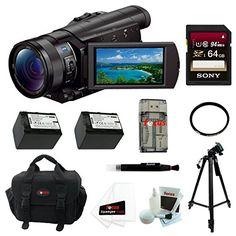 Sony FDR-AX100/B 4K Ultra HD Camcorder (Black) 64 GB FILTER DELUXE ACCESSORY KIT Focus Camera http://www.amazon.com/dp/B00ICTZDYY/ref=cm_sw_r_pi_dp_zRMvvb1N1C0V1