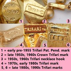 Vintage Jewelry Marks: Help for Dating Your Vintage Jewelry - My ...