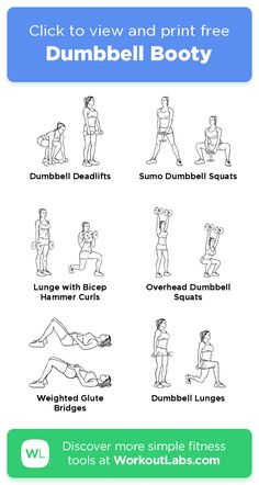 Dumbbell Booty · Free workout by WorkoutLabs Fit