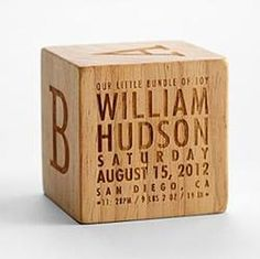 Natural Wood Keepsake Block  #keepsake #wood #personalized