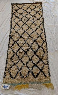 Kilim Vintage Berber Moroccan Beni Ourain Wool Runner Rug 5 Ft 11 X 2 4
