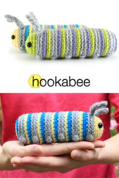 Chip the Caterpillar amigurumi pattern by @hookabee, #crochet, free pattern, #haken, gratis patroon (Engels), rups, knuffel, speelgoed, insect, #haakpatroon