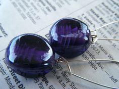 Royal purple drop earrings (Baubles By Jill)
