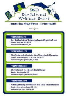 The OAC would like to welcome you to our FREE educational webinar series! #oaceducation
